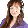 Girl in headphones — Foto de Stock