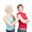 Women in quarrel — Foto Stock