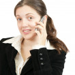 Businesswomspeaking by mobile — Stock Photo #3421863