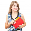 Teen girl with books - Stock Photo
