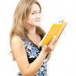 Young girl with book — Stock Photo