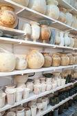 Egyptian hand made stone jugs — Stock Photo