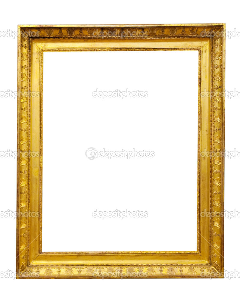Isolated Vintage gold picture frame — Stock Photo © Jim_Filim ...