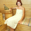 Stock Photo: Young womat sauna