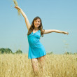 Stockfoto: Girl with wheat ears