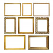 Set of Vintage gold picture frame — Stock Photo #3575484