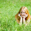 Red-haired teen girl - Stock Photo