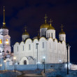 Dormition cathedral in night — Stock Photo #3575987