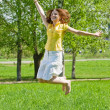 Jumping girl — Stock Photo #3576658