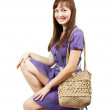 Girl with handbag — Stock Photo