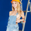 Stock Photo: Sexy female builder