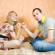 Stock Photo: Couple having reconciliation