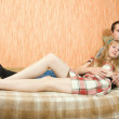 Couple laying on couch — Stock Photo #3578043