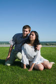 Seven parkta genç Çift — Stok fotoğraf
