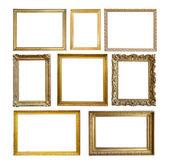 Set di cornice oro vintage — Foto Stock