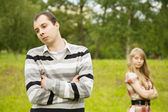 Couple having quarrel — Stock Photo