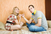 Couple having reconciliation — Stock Photo