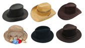 Set of hat — Stock Photo