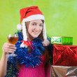 New Year's Eve party  girl — Stock Photo