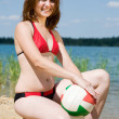 Stock Photo: Volleyball player