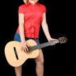 Girl with acoustic guitar — Stock Photo #3582876