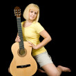 Sexy girl with acoustic guitar — Stock Photo #3582937