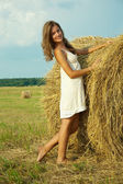 Země dívka — Stock fotografie