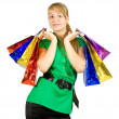 Girl with shopping bags — Foto de stock #3814616