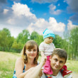 Father and mother with baby — Stock Photo