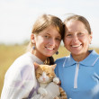 Stock Photo: Mother with teen daughter