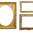 图库照片: Set of Vintage gold picture frame