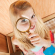 Royalty-Free Stock Photo: Girl with magnifier