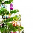 Christmas fir tree with different balls — Stock Photo