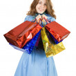 Girl with shopping bags — Stock Photo #3815681