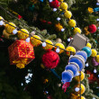 Closeup of decoration Christmas tree — Stock Photo