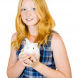 Girl with pet rabbit — Stock Photo #3816729