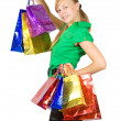 Happy girl holding shopping bags — Foto de stock #3817561