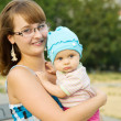 Happy mother with baby — Stock Photo #3819228