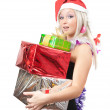 Royalty-Free Stock Photo: Girl  with New Year gifts