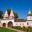 Santa gate in Rizopolozhenskiy monastery — Stock Photo #3823140