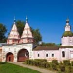Santa gate in Rizopolozhenskiy monastery — Stock Photo