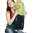 Sitting mother with her son — Stock Photo