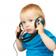 Small boy with headphones — Stock Photo