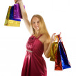 Lovely girl with shopping bags — Stock Photo