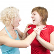 Stock Photo: Young women in quarrel
