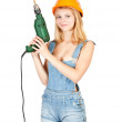 Royalty-Free Stock Photo: Sexy girl with drill