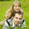 Couple in love outdoors — Stock Photo #3832892