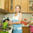 Family in the kitchen — Stock Photo