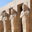 Statues in Karnak temple, Luxor - Stock Photo