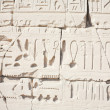 Hieroglyphic relief in Temple of Karnak — Stock Photo #3835636